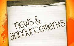 Announcements – Thursday, May 25, 2017