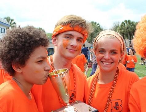 Orange Team Takes Field Day Trophy