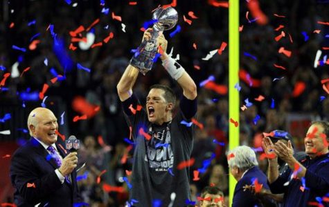 Tom Brady celebrates with the Lombardi Trophy after Super Bowl LI. Brady and the Patriots completed the greatest comeback in Super Bowl history.