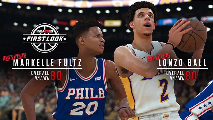 NBA+2K18+features+the+new+rookie+class%2C+such+as+%231+overall+pick+Markelle+Fultz+of+the+Philadelphia+76ers+and+%233+overall+pick+Lonzo+Ball+of+the+Los+Angeles+Lakers.