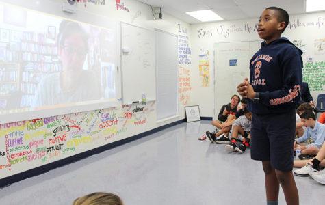 Students Skype with Award-Winning Author Nora Raleigh Baskin