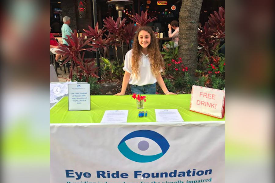 Sophia Liporace holds a fundraiser for her Eye Ride Foundation on February 24, 2018 at Rocco's Tacos in West Palm Beach.
