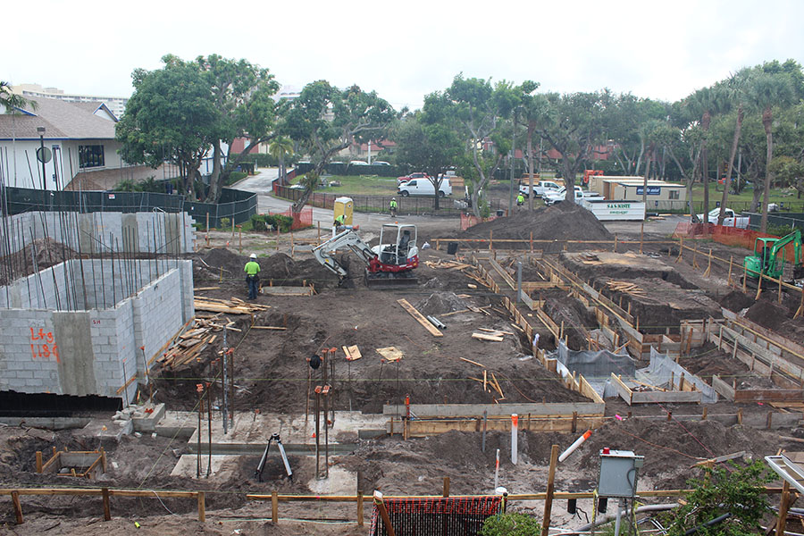 The construction site of the new  Maglio Family STEM Center as of August 28, 2018.