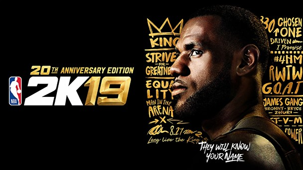LeBron James graces the cover of this year's NBA 2K19 20th Anniversary Edition from Take-Two Interactive Software, Inc.