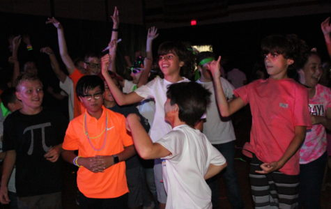 A group of sixth graders have some fun at the Middle School Dance held on September 28.