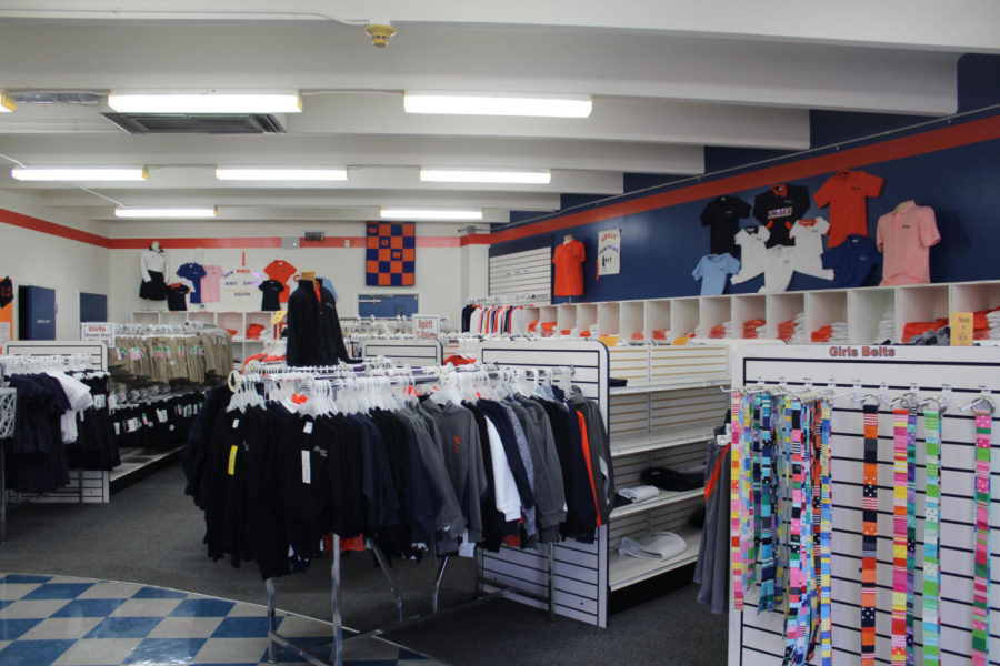 Located on the Lower/Middle School Campus, the Nook offers everything from polos and shorts to belts, hats, and sweatshirts.