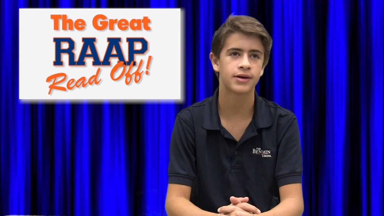 TBS News anchor Adam Braman explains the rules for this year's RAAP competition.
