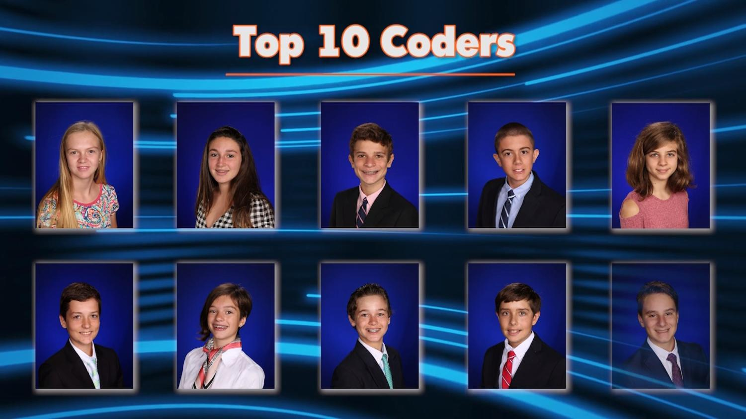 TBS News congratulates the top 10 coders from our Middle School who qualified for the Virginia state tournament.
