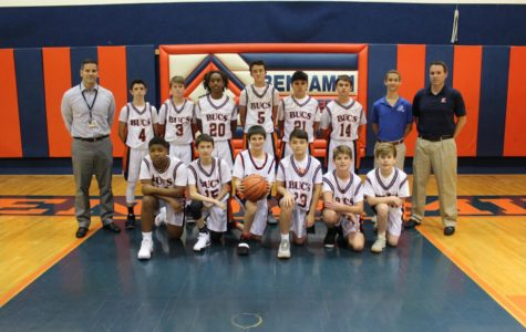 The eighth-grade boys' basketball team went on a tear after opening the season 0-2.