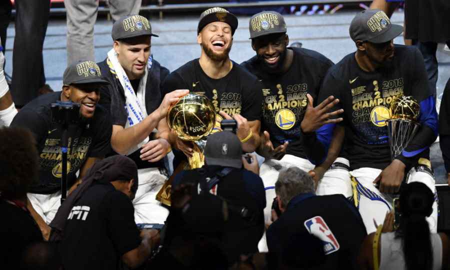 The+Golden+State+Warriors+are+looking+to+threepeat+and+make+it+four+rings+in+five+seasons+this+year.