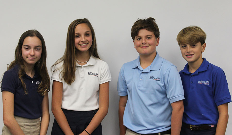 This year's Student Council Officers are Emerson Ferry (secretary), Maggie Smith (president), Chester Coles (treasurer), and JP Walsh (vice president).