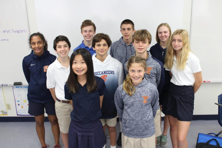 This year's mathletes placed sixth at the county competition.