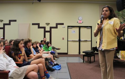 YA Author Mitali Perkins Visits the Middle School