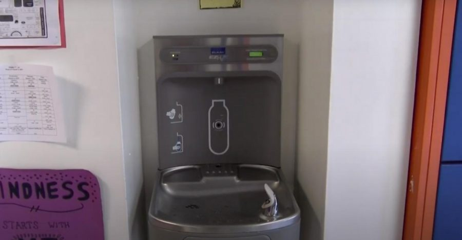When+students+return+to+school%2C+they+will+not+be+allowed+to+drink+from+the+water+fountains%2C+such+as+this+one+in+the+eighth-grade+hallway.