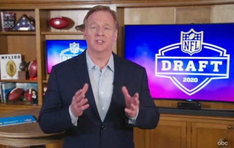 NFL Commissioner Roger Goodell hosted this year's draft from his basement as a result of the COVID-19 pandemic.