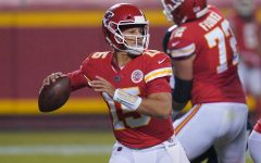 Kansas City Chiefs quarterback Patrick Mahomes throws a pass against the Houston Texans during the teams' Week  1 game on Thursday, September 10.
