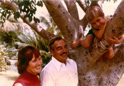 School Co-Founders Mr. and Mrs. Benjamin pose with their daughter, Susy, circa 1977.
