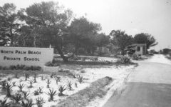 """This photograph illustrates the humble beginnings of TBS, originally called """"North Palm Beach Private School."""""""
