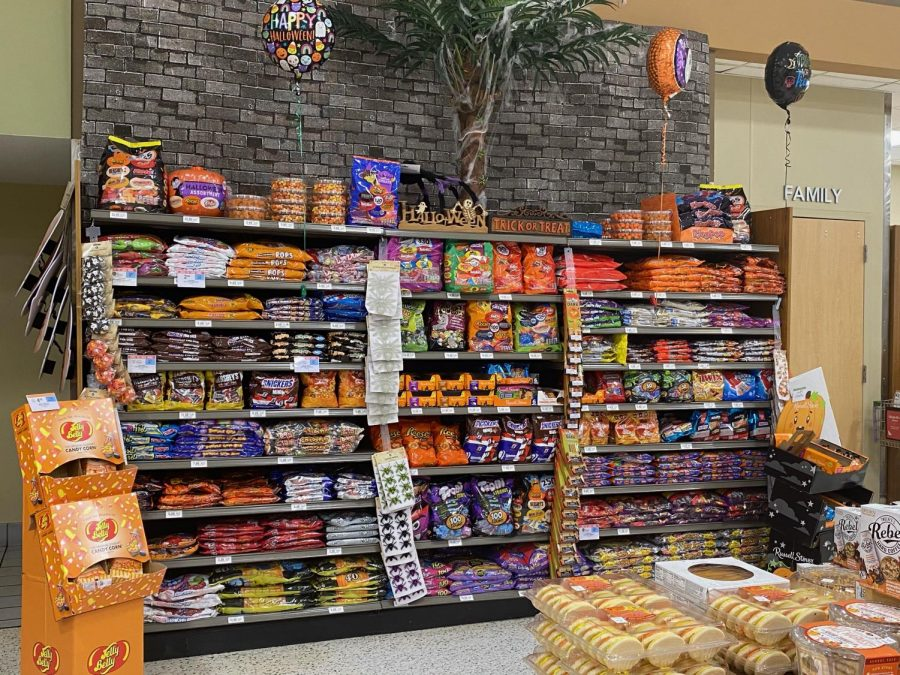 Students main motivation for braving the pandemic this Halloween: candy, like the kinds shown here lining the shelves at Publix.
