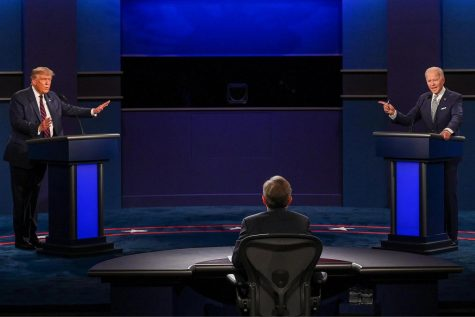 President Donald Trump squares off against former Vice President Joe Biden during their first debate on September 29 in Cleveland, Ohio.