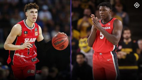 The Minnesota Timberwolves have the first pick in the 2020 NBA Draft. Many favor LaMelo Ball (left) or Anthony Edwards to go first overall, but the question won