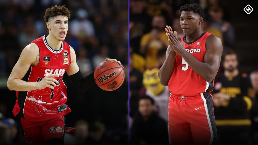 The Minnesota Timberwolves have the first pick in the 2020 NBA Draft. Many favor LaMelo Ball (left) or Anthony Edwards to go first overall, but the question won't be answered until the draft. (Photo courtesy of www.sportingnews.com)