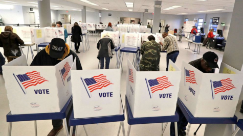 Citizens in Ohio vote in the 2020 election.