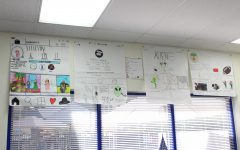 The various vocabulary posters adorn the walls of Mr. Ginnetty's room.