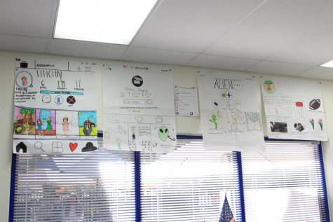 The various vocabulary posters adorn the walls of Mr. Ginnetty
