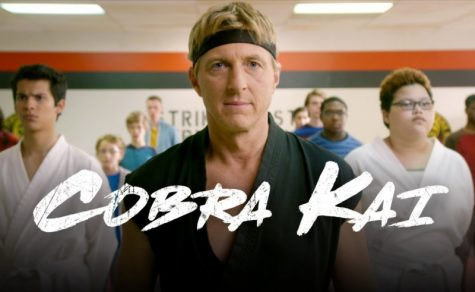 Johnny Lawrence and the new students of Cobra Kai.