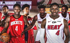 Victor Oladipo (#4) could help get Jimmy Butler, Bam Adebayo, and the Miami Heat get back to the NBA Finals this year.